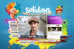 The Solidays annual music festival has an impressive website