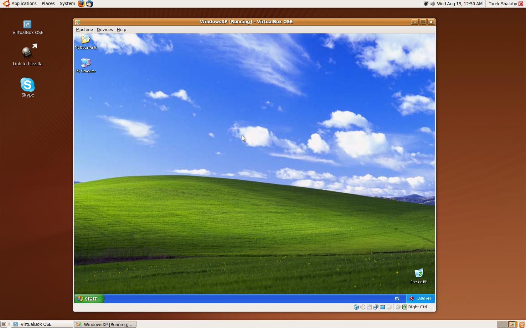 Windows XP with VirtualBox on Ubuntu | Tarek Shalaby