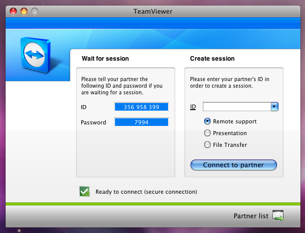TeamViewer Screen