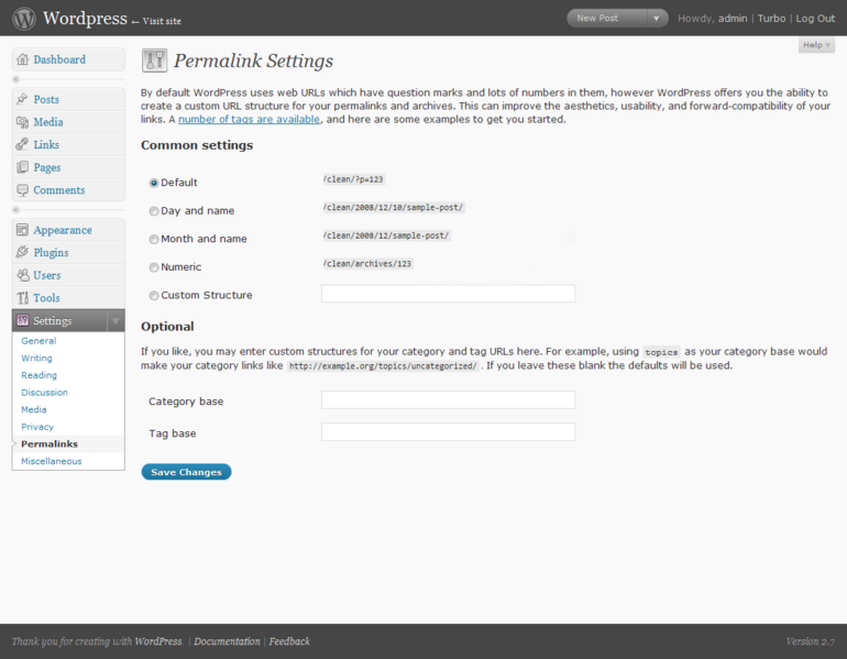 Enable Permalinks: easy and powerful