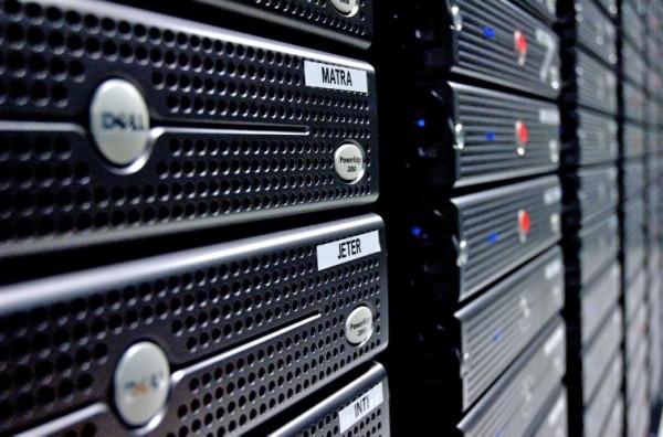 Servers on rack