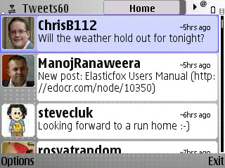 Tweets60 on Nokia E71