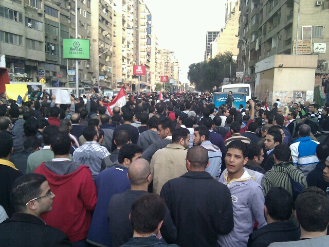 Tahrir st. on the way to downtown