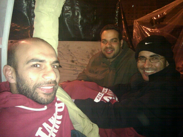 Dief, Ziad & Taher stayed the night once, and visited